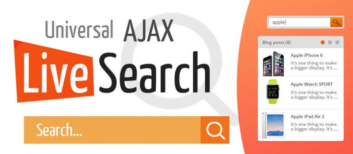 Universal AJAX Live Search 5.4.7
