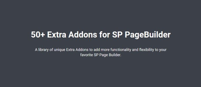 Extra Addons for SP PageBuilder 1.0.6