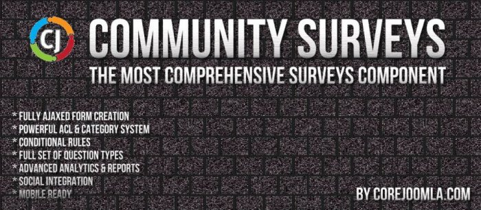 Community Surveys 5.4.0