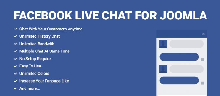 Facebook Live Chat for Joomla 1.0